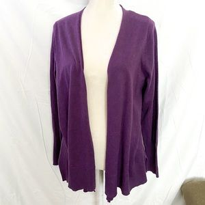 Lane Bryant purple open cardigan